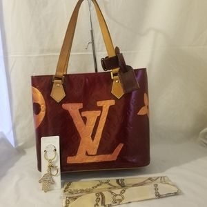 Louis Vuitton Vernis Houston custom hand painted